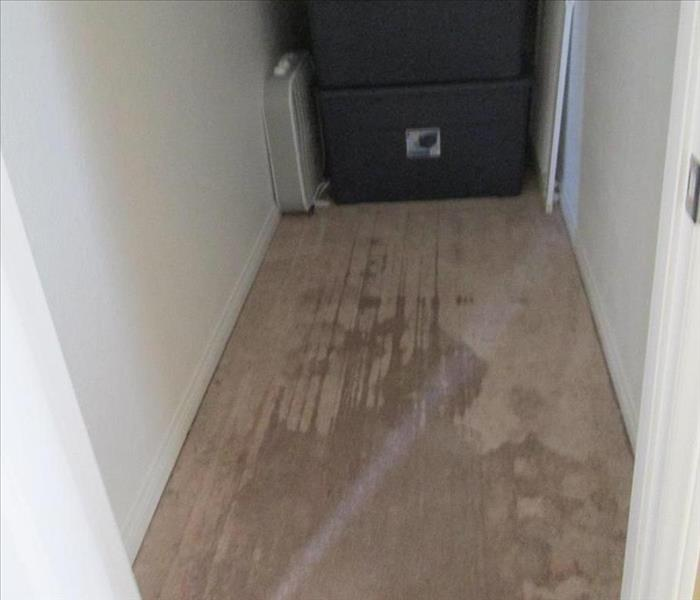 Water damage after a storm Before