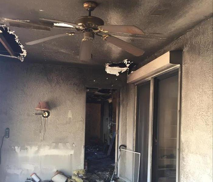 Yuma Fire Damaged Home and SERVPRO Restoration Before