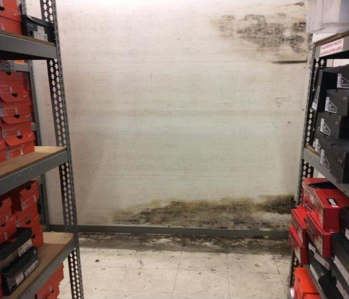 Commercial Water And Mold Damage In El Centro Before