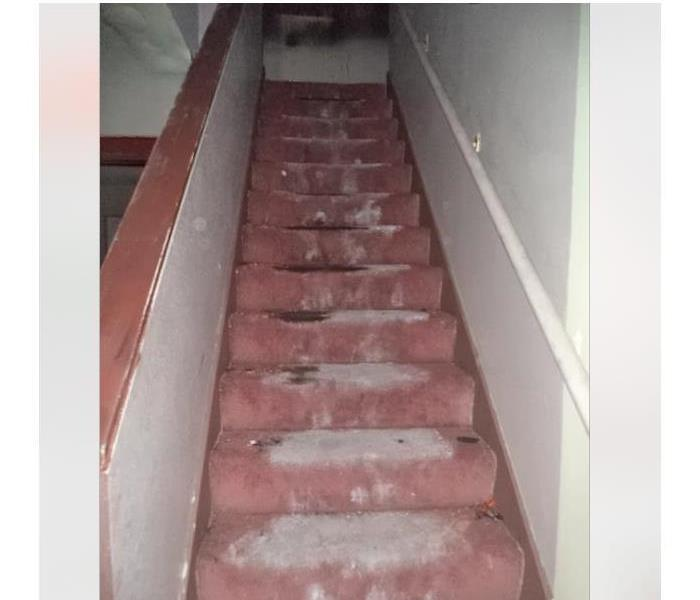 Water Damage on staircase